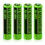 No-Brand Battery for All Brands Rechargeables NiMH AA (4-Pa NiMH AA Ba
