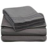 Simmons Empyrean Twin Gray Bed Sheet Set Empyrean Bed Sheet Set